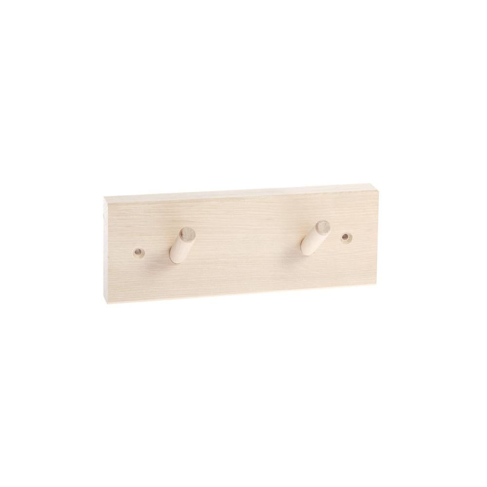 Iris hantverk - Rack With 2 Hooks (Birch)