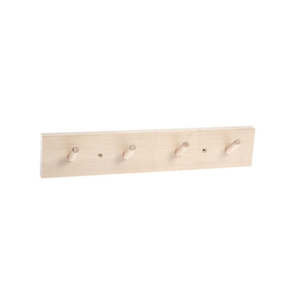 Iris hantverk - Rack With 4 Hooks (Birch)