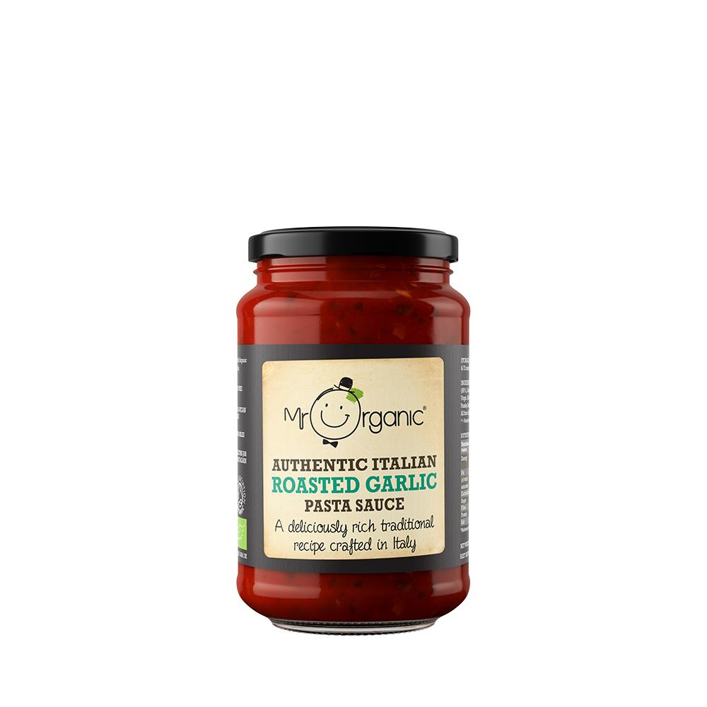 Organic Vegan Roasted Garlic Pasta Sauce 350g