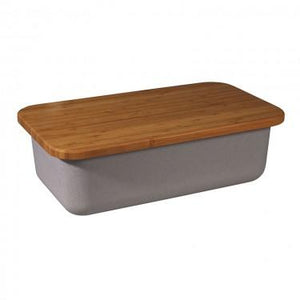 Save My Bread - bin+cuttingboard Grey