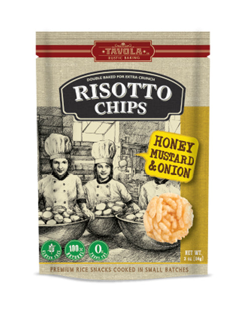 Risotto Chips - Honey Mustard & Onion