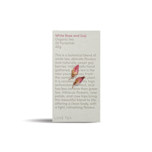 White Rose Goji Tea - 1 Box x 20 Pyramid bags