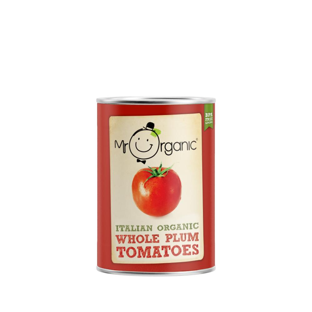 Mr Organic - Organic Vegan Whole Peeled Tomato 400g