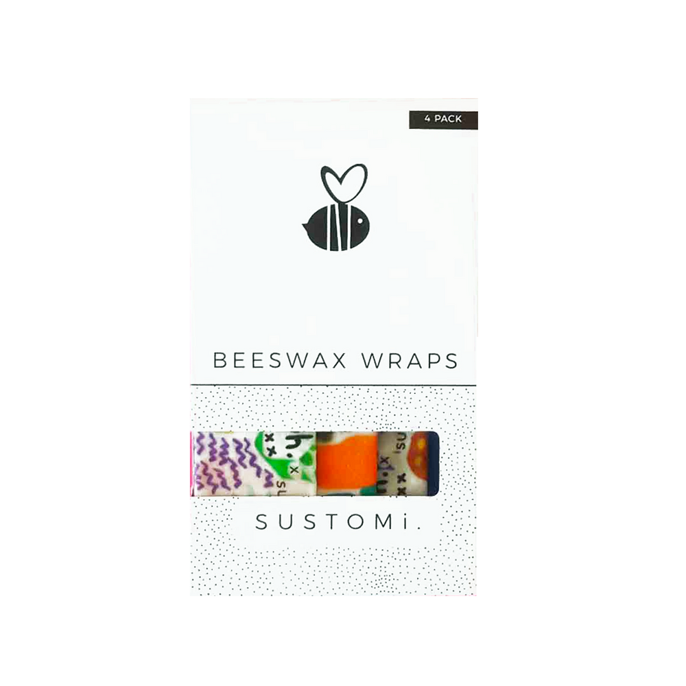 Sustomi Limited Edition Beeswax Wraps  Shuh Lees Dreams 4 Pack: 1S 1M 1L 1XL