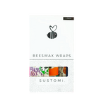 Sustomi - Limited Edition Beeswax Wraps  Shuh Lees Dreams 4 Pack: 1S 1M 1L 1XL