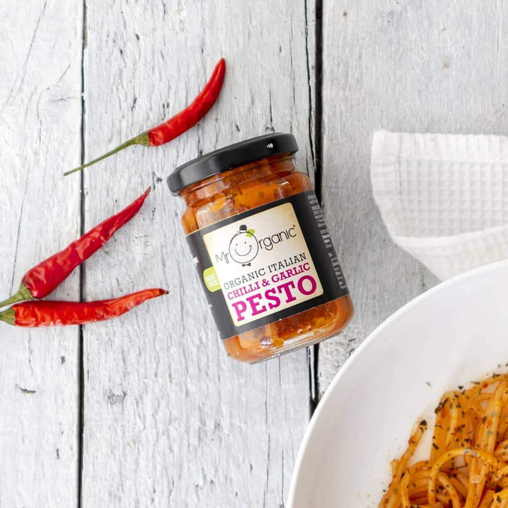 Mr Organic - Organic Vegan Chilli Garlic Pesto 130g