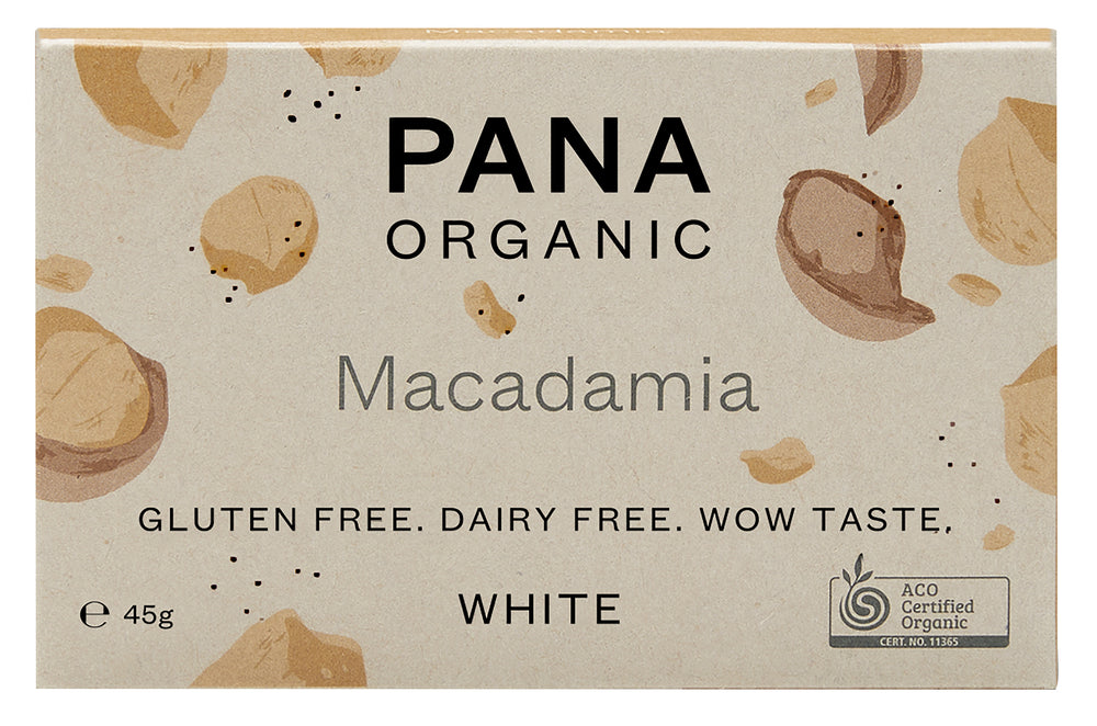 Organic Vegan Chocolate Bar - White Macadamia
