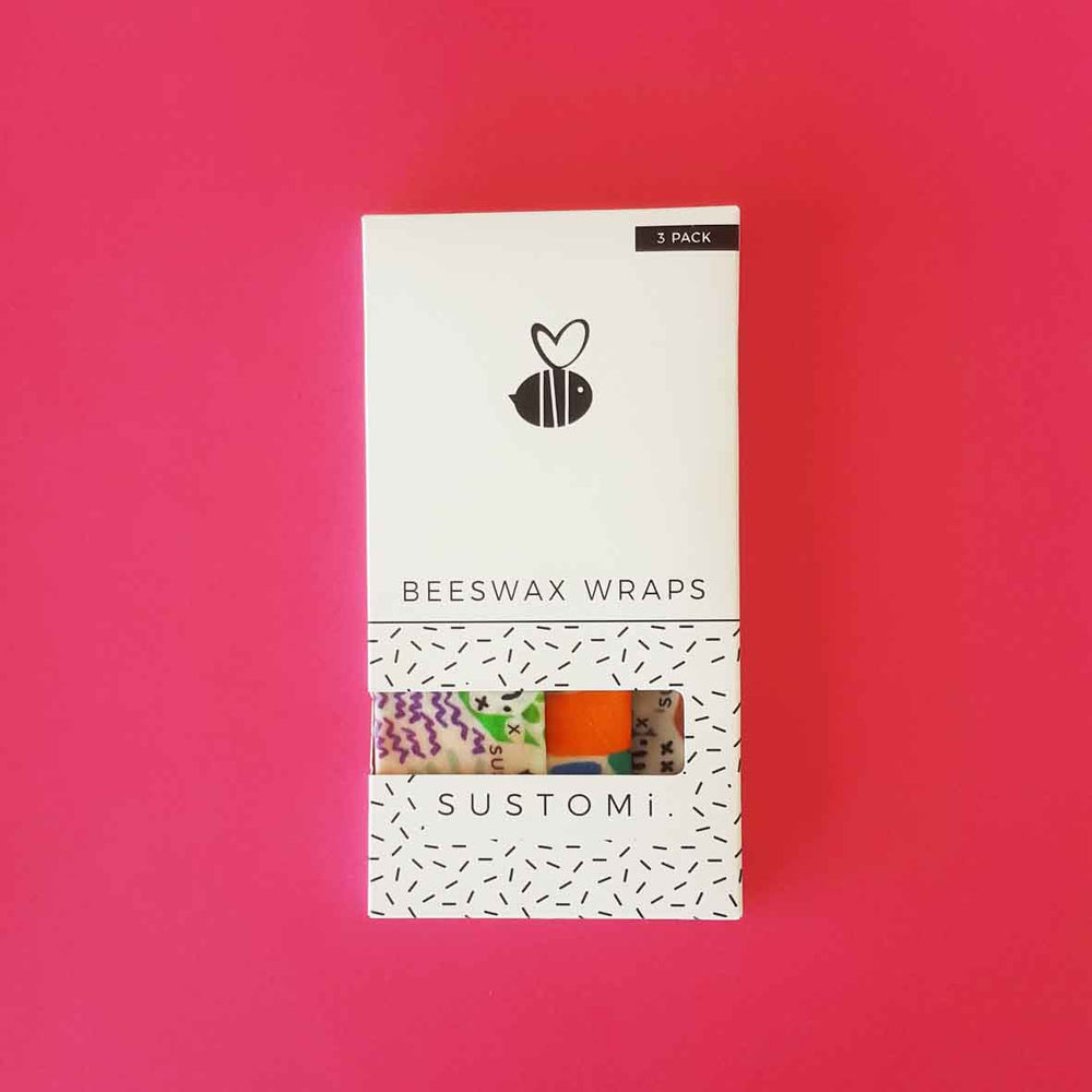 Sustomi - Beeswax Wraps Little Gems 3 Pack: 1S 1M 1L