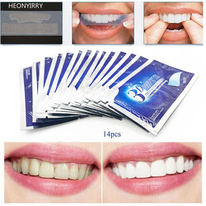 28Pcs/14Pair 3D Teeth Whitening Strips