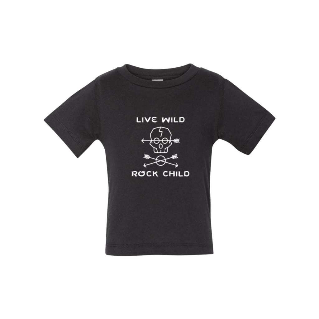 Live Wild Rock Child Baby Tee - Roxx n' Rule