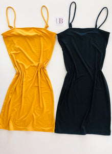 Ava Dress - Mustard Yellow