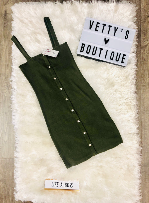 Plain and Sexy Dress - Olive