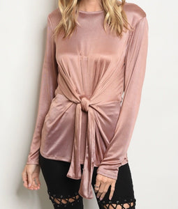 Mocha Long Sleeve Blouse