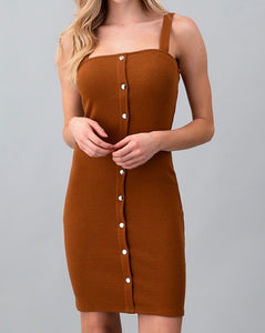 Plain and Sexy Dress - Bronze