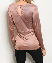 Load image into Gallery viewer, Mocha Long Sleeve Blouse