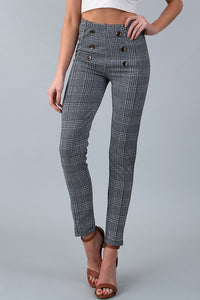 Plaid Pants - Black