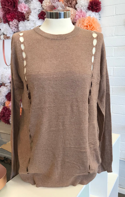 Sweet Mocha Sweater Top