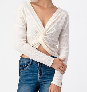 Twist Me Top - Cream