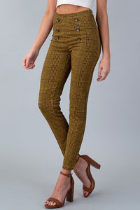 Plaid Pants - Mustard