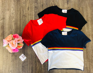 Support Pride Crop Top - Red