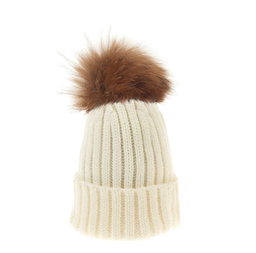 Winter White Ribbed Hat Child