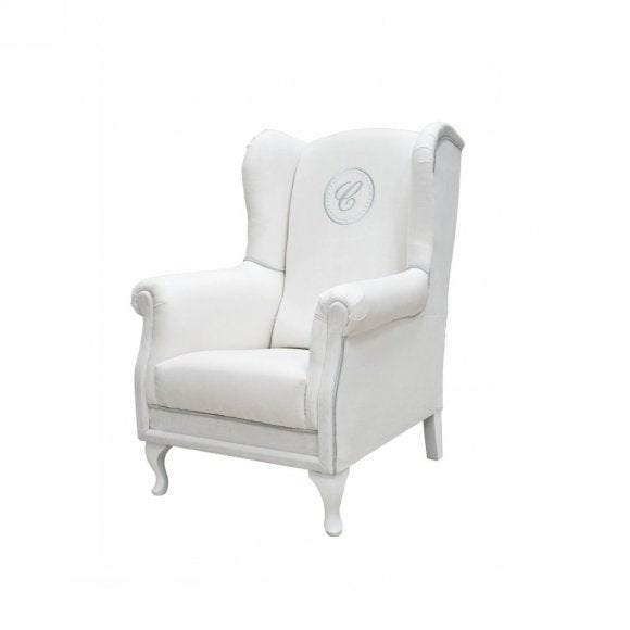 Ivory Armchair with Emblem