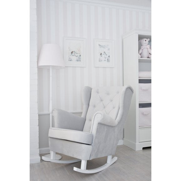 Grey Rocking Armchair