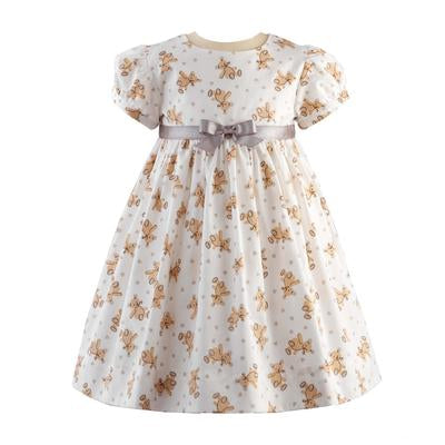 Teddy Party Dress and Bloomer Set