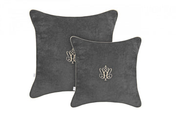 Anthracite Luxury Nursery Pillow