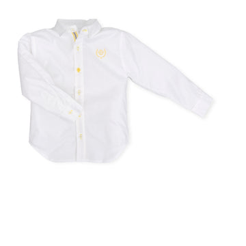 Boys White & Yellow Shirt