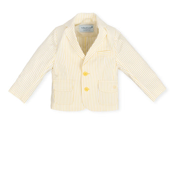 Yellow Stripe Cotton Jacket