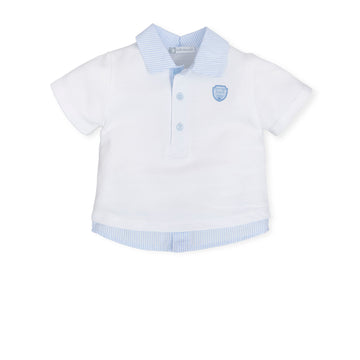 White & Blue Polo T-Shirt