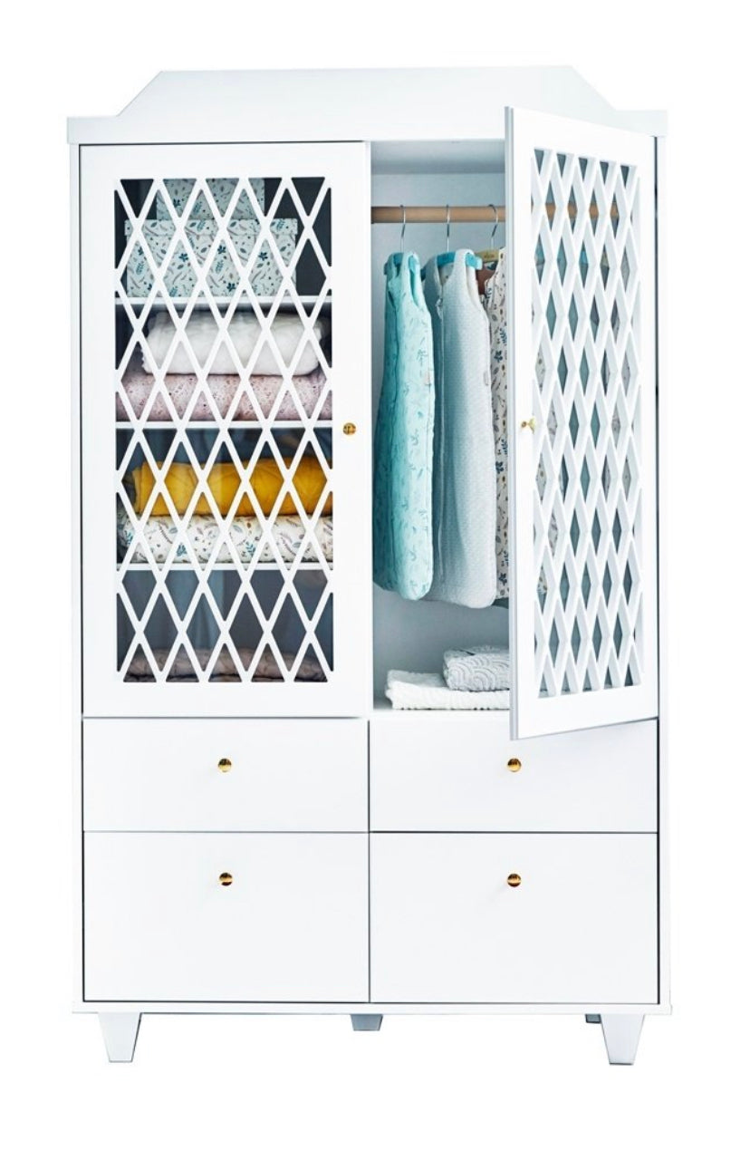Harlequin Wardrobe White