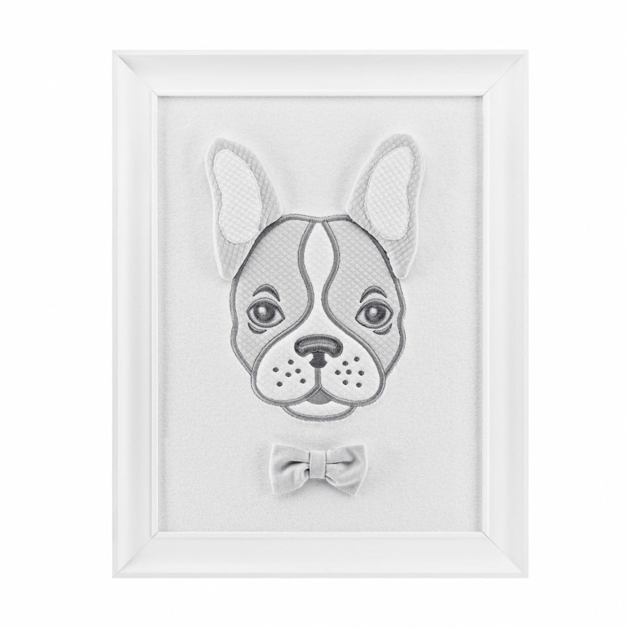 Bulldog nursery wall art