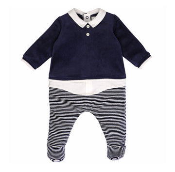 Richie Smart Navy Babygrow