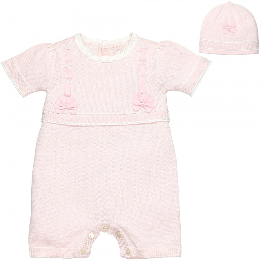 Pippa Girls knitted Romper Set