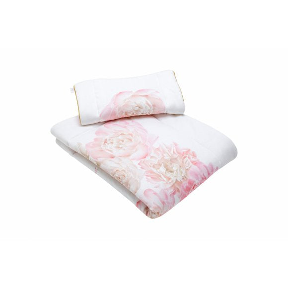 Secret Garden Blanket with Pillow-White & Pink