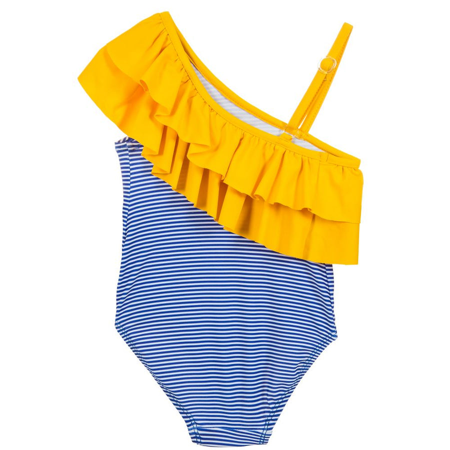 Yellow & Blue Swimsuit