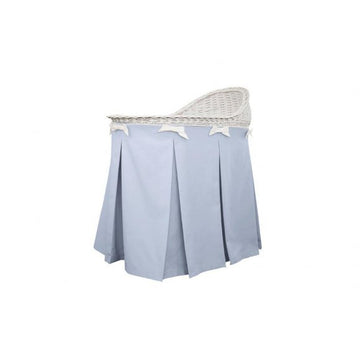 Mobile Wicker Basket with Azure skirt