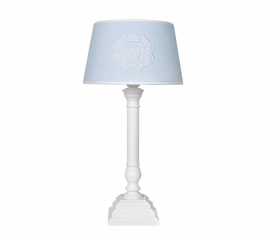 Azure blue table lamp