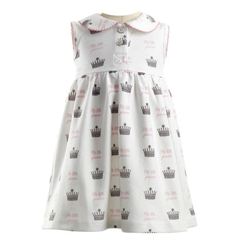 Princess Crown Print Jersey Dress and Shorts