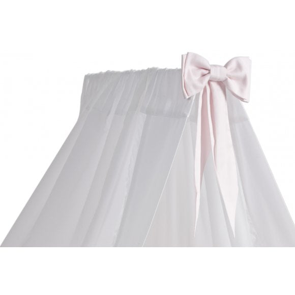 White Standing Canopy with Baby Pink Bow