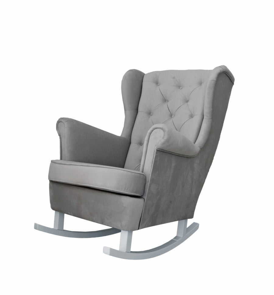 Anthracite grey rocking armchair