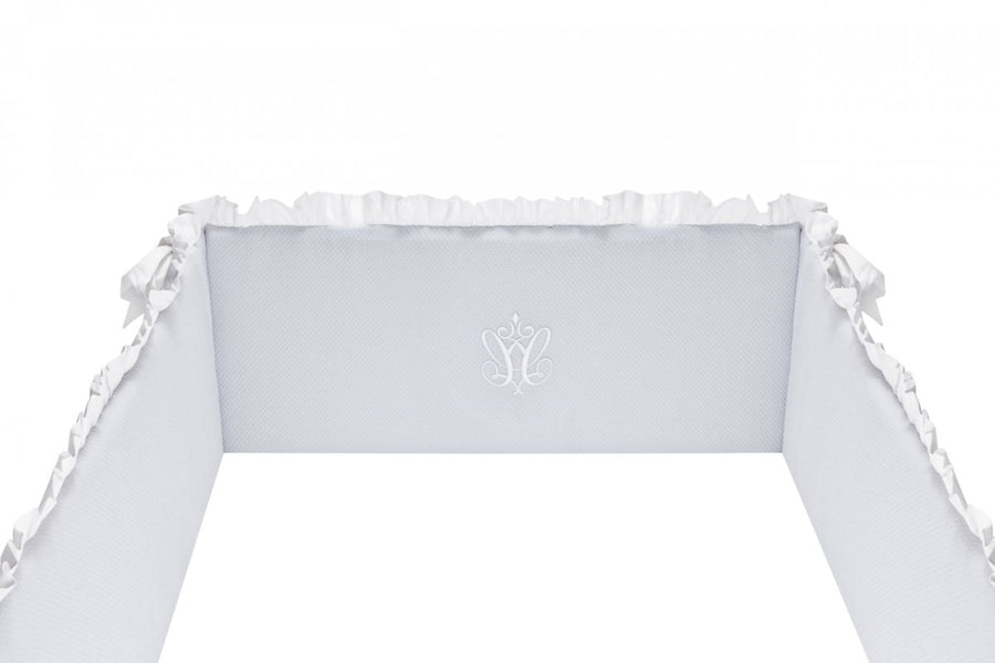 Pure Grey Cot Bumper
