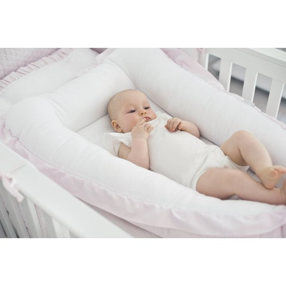 Baby pink sleep nest
