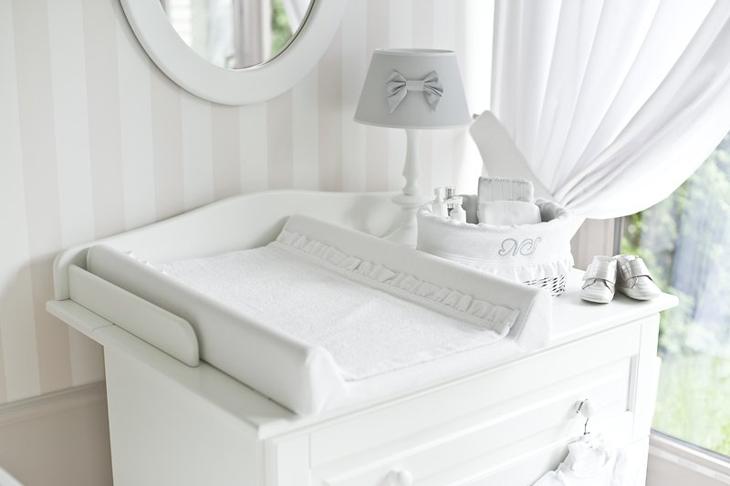 Pure white & Lace Baby Changing Mat
