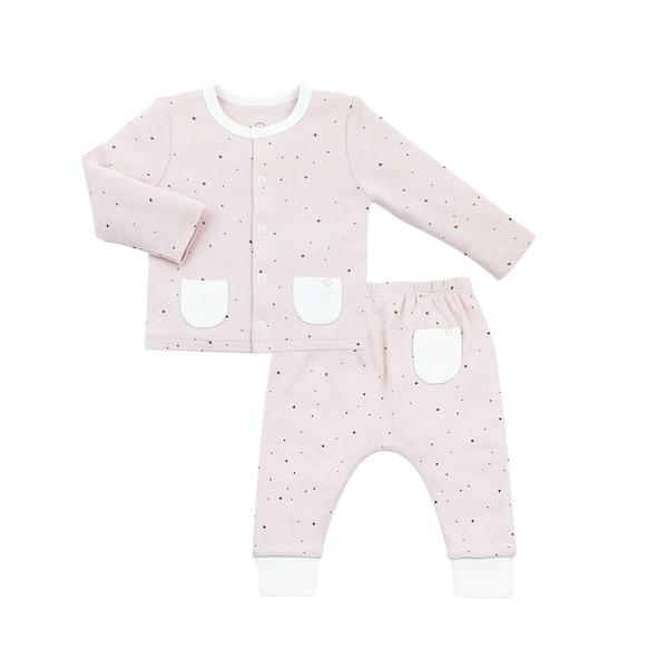 Girls Play date Two Piece Set-Stardust Pink
