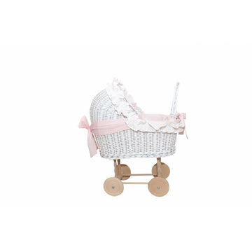 Pink Wicker Trolley