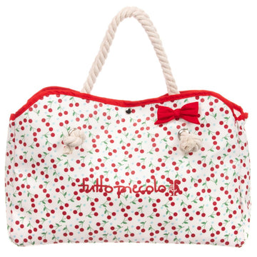 Cherry Print Beach Bag