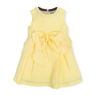 Girls yellow Jaquard Dress